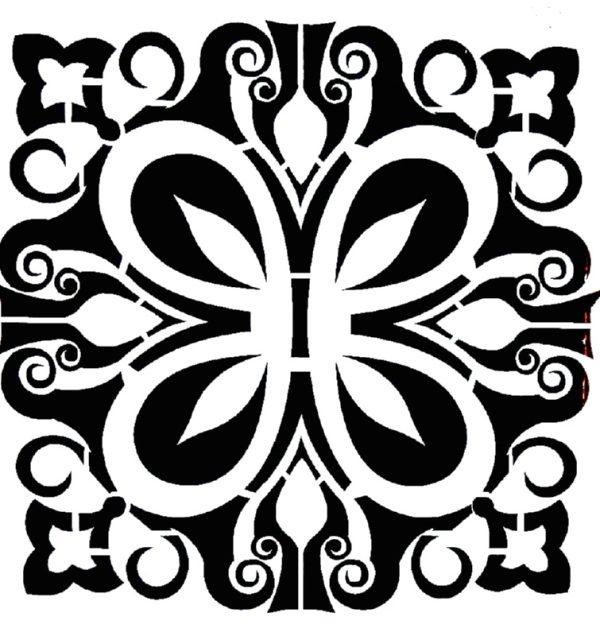 Στένσιλ Decofoam D-0102019 - 25x25cm