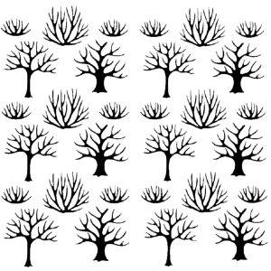 Στένσιλ Decofoam D-0102021 - 50x50cm - Δέντρα & Θάμνοι