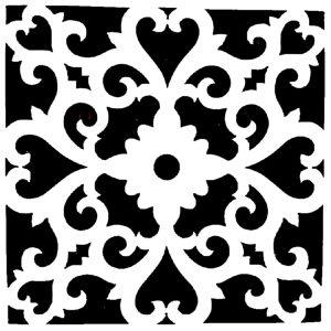 Στένσιλ Decofoam D-0102024 - 30x30cm