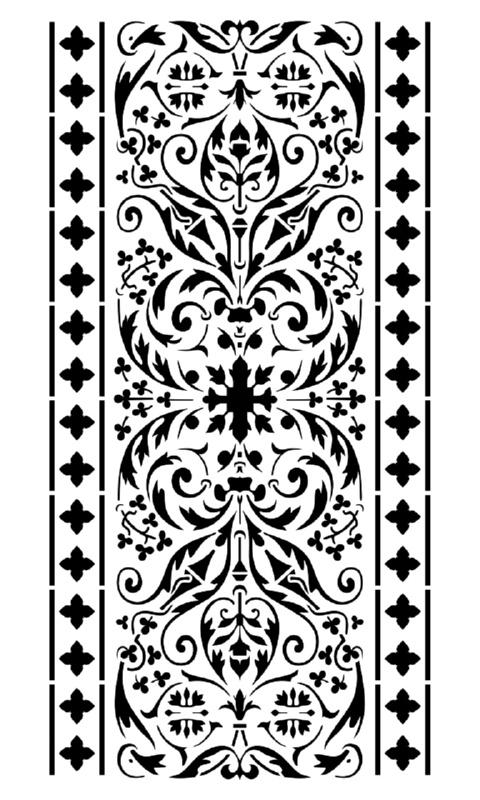 Στένσιλ Decofoam D-0102113 - 50x25cm
