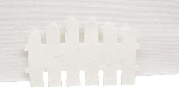 Διακοσμητικός Φράχτης Τσόχα Λευκός  DF00421  12x7cm