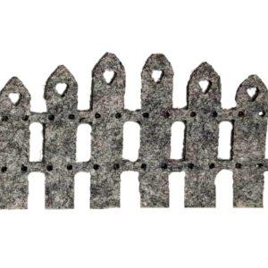 Διακοσμητικός Φράχτης Τσόχα Γκρί  DF00422  12x7cm