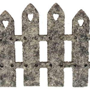 Διακοσμητικός Φράχτης Τσόχα Γκρί  DF00423  22.5x13cm