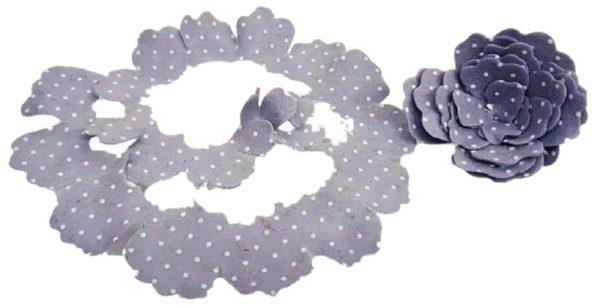Γκρί Πουά Τσόχα Λουλούδι  DF00437