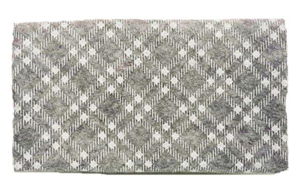 Γκρί Καρό Ύφασμα Τσόχα Γκλίτερ  DF00458  50x50cm