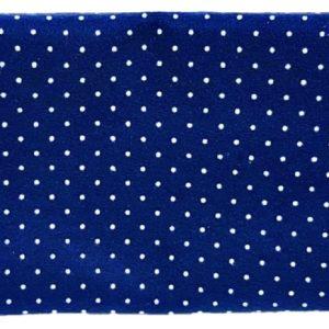 Μπλέ Ύφασμα Τσόχα Πουά  DF00463  50x50cm