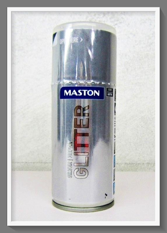 Maston Σπρέι Glitter 3012 Aσημί 150ml