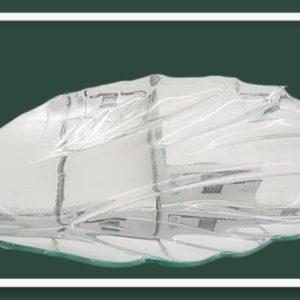 Γυάλινη Πιατέλα σε σχήμα φύλλο DF-00496   27x19cm