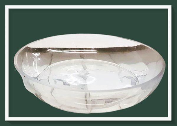 Γυάλινο Στρογγυλό Μπώλ DF-00497  23x23cm