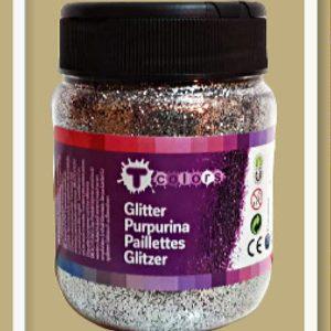 Σκόνη Γκλίτερ Tcolors Aσημί D-7937843 130gr