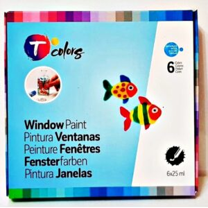Tcolors Window Paint Volume Paints D-7944657 Σετ 6τμχ 25m