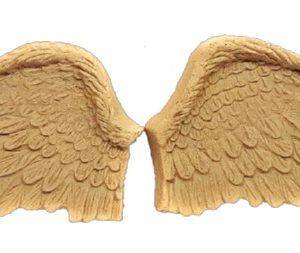 Ξυλόγλυπτα Φτερά Αγγέλου 1207 15x7.5cm