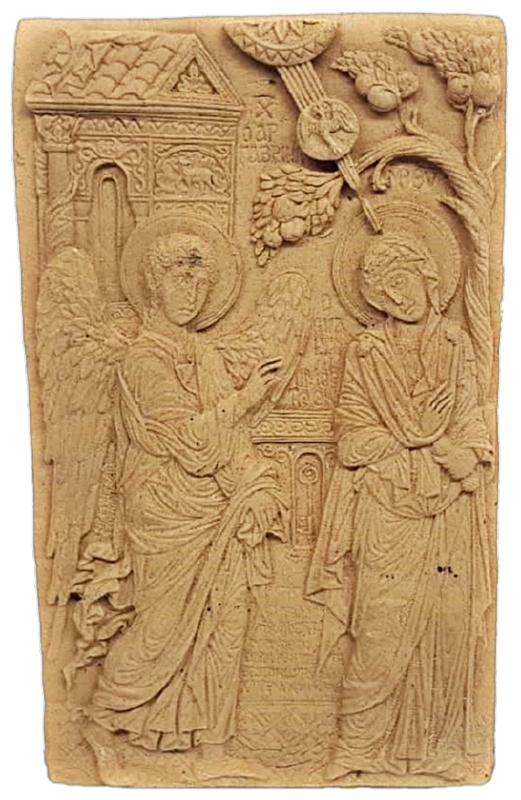 Ξυλόγλυπτη Θρησκευτική Εικόνα  DF00417  15x9cm