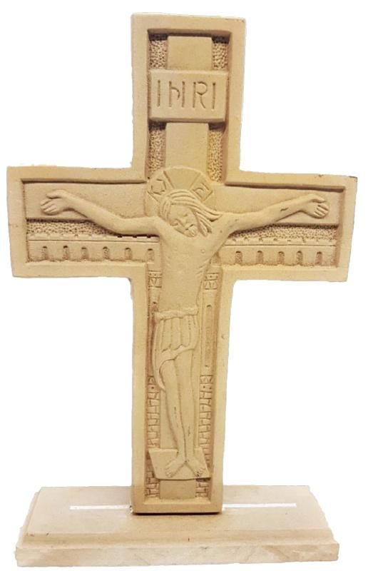 Ξυλόγλυπτος Σταυρός με βάση στήριξης   9002  26x16.5cm