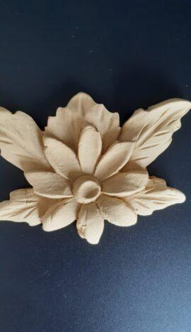 Ξυλόγλυπτο Διακοσμητικό Λουλούδι 12x8cm 2840