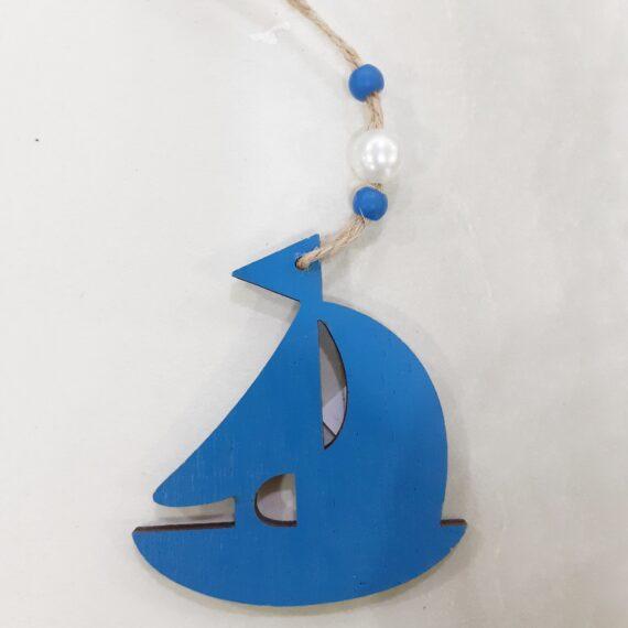 Διακοσμητικό Καραβάκι  Μπλε 5.5cm