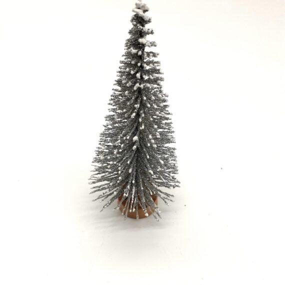 Διακοσμητικό δεντράκι ασημί 4x9cm 4691